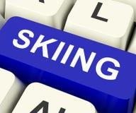 La clé de ski montre le ski ou le skieur Image stock