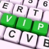 La clé de VIP signifie l'honorable ou la personne très importante Images stock