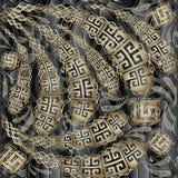 La clé grecque serpente le modèle 3d sans couture floral Ornamental de vecteur illustration libre de droits