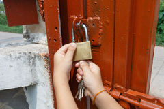 La clé se déverrouillent Photographie stock libre de droits