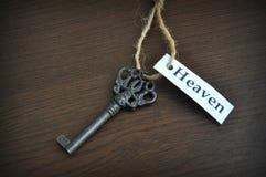 La clé au ciel Photo libre de droits