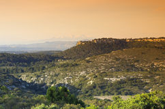La clape hills in languedoc country Stock Image