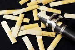 La clarinette et les roseaux Image libre de droits