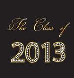 La clase de 2013 Imagen de archivo libre de regalías