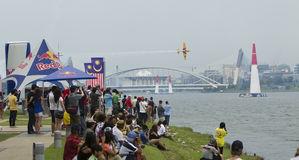La classe principale Nigel Lambs gagne la course d'air de Red Bull Photographie stock