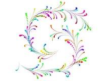 La clavette spiralée colorée aiment l'ornement du confett Photos stock
