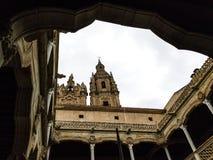 La Clerecia dalla Camera dello shellsÂ, Salamanca, Spagna Fotografie Stock Libere da Diritti