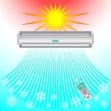 La climatisation, brise de refroidissement souffle le froid Photographie stock
