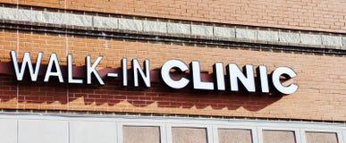 La clinica delle persone senza appuntamento immagine stock