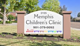 La clinique du Memphis Children photo stock