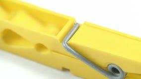 La clip gialla del panno video d archivio