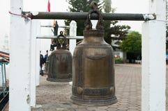 La cloche chanceuse en Asie, Thaïlande Photos stock