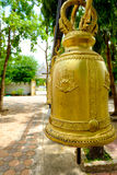 La cloche dans le temple royal de monestery Photographie stock