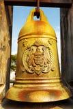 La cloche en bronze dans Monte Fort de Macao image libre de droits