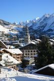 La clusaz Royalty Free Stock Photo