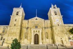 La Co-Catedral de San Juan en La Valeta, Malta Fotografía de archivo