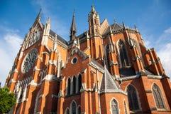 La co-catedral de San Pedro y de San Pablo en Osijek fotografía de archivo
