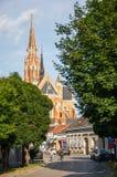 La co-catedral de San Pedro y de San Pablo en Osijek imagen de archivo libre de regalías