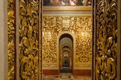 La Co-catedral de St John en La Valeta en Malta, Foto de archivo libre de regalías