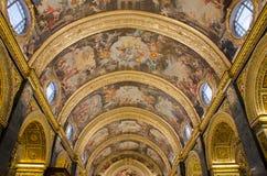 La Co-cathédrale de St John à La Valette à Malte, Image stock