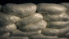 La cocaína embala el tiro móvil almacen de video