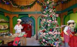 La cocina de Papá Noel Fotos de archivo libres de regalías