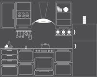 La cocina del avellanador del gas Libre Illustration
