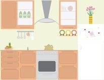 La cocina del avellanador del gas Stock de ilustración