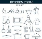 La cocina equipa iconos del web stock de ilustración