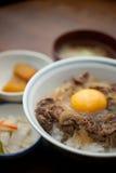 La cocina japonesa GyÅ ?pone Imagenes de archivo