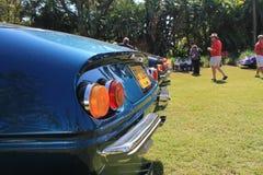 La cola clásica del coche de deportes enciende formación Fotografía de archivo
