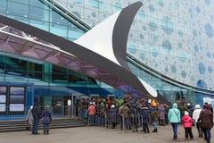 La cola en Moscú Oceanarium Moscú, Rusia Fotografía de archivo libre de regalías