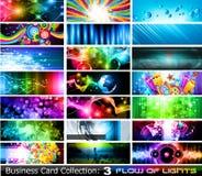 La colección abstracta de la tarjeta de visita fijó 3