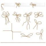 La colección de ahd de las cintas arquea en estilo de la cuerda stock de ilustración