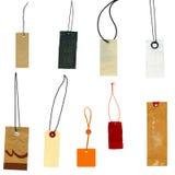 La colección de escrituras de la etiqueta prise escrituras de la etiqueta Fotografía de archivo libre de regalías
