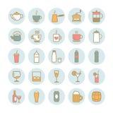 La colección de esquema del vector bebe iconos Fotos de archivo libres de regalías