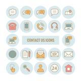 La colección de esquema nos entra en contacto con los iconos Imagenes de archivo