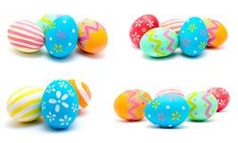 La colección de fotos perfecciona isola hecho a mano colorido de los huevos de Pascua Imágenes de archivo libres de regalías