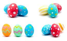 La colección de fotos perfecciona isola hecho a mano colorido de los huevos de Pascua Fotografía de archivo libre de regalías