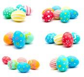 La colección de fotos perfecciona isola hecho a mano colorido de los huevos de Pascua Imagen de archivo
