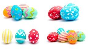 La colección de fotos perfecciona isola hecho a mano colorido de los huevos de Pascua Fotos de archivo libres de regalías