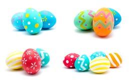 La colección de fotos perfecciona isola hecho a mano colorido de los huevos de Pascua Fotos de archivo