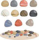 La colección de las rocas Fotos de archivo