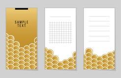 La colección de pescados o de serpiente del oro escala el cuaderno stock de ilustración
