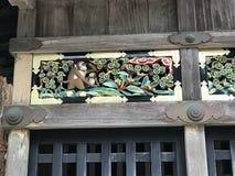 La colección de tallas en la capilla de Nikko Toshogu Imágenes de archivo libres de regalías