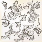 La colección de vector del vintage remolina para el diseño Fotos de archivo libres de regalías