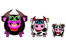 La colección del granjero - vacas stock de ilustración