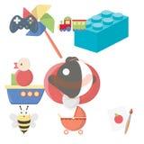 La colección grande de juguetes vector el ejemplo común del símbolo Fotografía de archivo libre de regalías