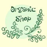 La colección plana de la etiqueta del producto orgánico 100 y la comida natural de la calidad superior badge elementos Aislado en Fotos de archivo
