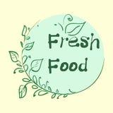 La colección plana de la etiqueta del producto orgánico 100 y la comida natural de la calidad superior badge elementos Aislado en Fotos de archivo libres de regalías